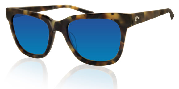 Costa Del Mar Coquina Vintage Tortoise Blue Mirror 580 Glass Polarized Lens