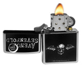 Zippo 29705 Avenged Sevenfold Black White Skull Wings Street Chrome Lighter