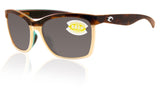 Costa Del Mar Anaa Shiny Retro Tort Cream Frame Gray 580P Plastic Polarized Lens