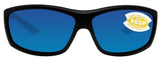 Costa Del Mar Saltbreak Blackout Frame Blue Mirror 580P Plastic Polarized Lens