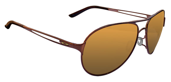 Oakley Caveat Brunette Frame Bronze Polarized Lens Authentic Sunglasses New