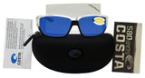 Costa Del Mar Tuna Alley Crystal Frame Blue Mirror 580P Plastic Polarized Lens