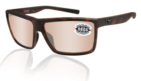 Costa Del Mar Rinconcito Tortoise Copper Silver Mirror 580 Glass Polarized Lens