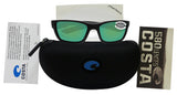 Costa Del Mar Whitetip Blackout Frame Green Mirror 580G Glass Polarized Lens