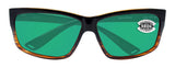 Costa Del Mar Cut Coconut Fade Frame Green Mirror 580G Glass Polarized Lens