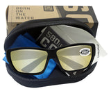 Costa Del Mar Tuna Alley Blackout Sunrise Silver Mirror 580G Glass Polarized