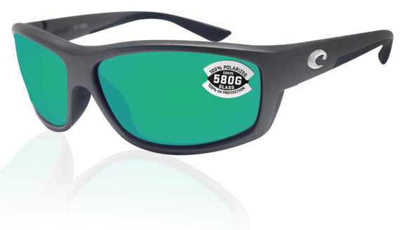 Costa Del Mar Saltbreak Steel Gray Frame Green Mirror 580G Glass Polarized Lens