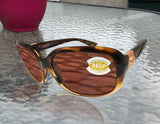 Costa Del Mar Gannet Tortoise Fade Frame Copper 580P Plastic Polarized Lens New