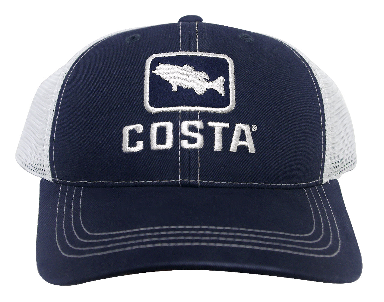 COSTA DEL MAR MESH HAT COSTA BLUE WHITE  ADJUSTABLE  BRAND NEW