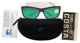 Costa Del Mar Mag Bay Tortoise Frame Green Mirror 580P Plastic Polarized Lens