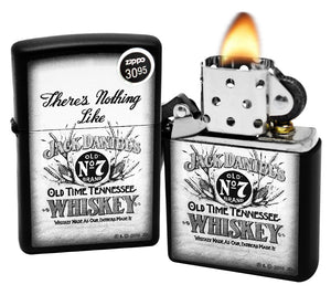 Zippo 29293 Jack Daniel's Old No 7 Whiskey Black Matte Finish Windproof Lighter