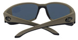 Costa Del Mar Blackfin Matte Moss Frame Blue Mirror 580 Plastic Polarized Lens