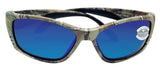Costa Del Mar Fisch Realtree Camo Frame Blue Mirror 580G Glass Polarized Lens