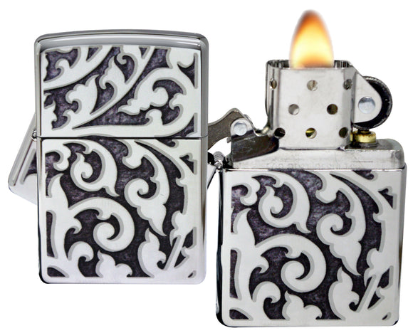Zippo 28530 Filigree High Polish Chrome Lighter