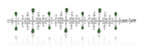 Swarovski perfection bracelet green rhodium plated NIB 5507695