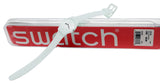 Swatch Original LG129 Greenbelle White Dial Green Silicone Watch, new