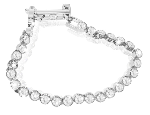 Swarovski tennis bracelet white rhodium plated 1791305