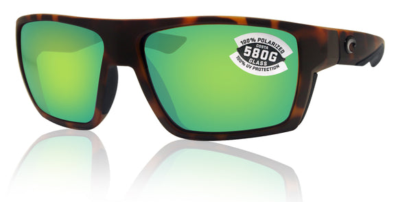 Costa Del Mar Bloke Retro Tortoise Black Green Mirror 580G Glass Polarized Lens