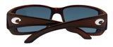 Costa Del Mar Blackfin Tortoise Frame Blue Mirror 580G Glass Polarized Lens