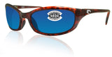 Costa Del Mar Harpoon Tortoise Frame Blue Mirror 580G Glass Polarized Lens