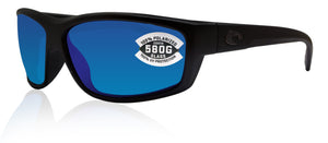 Costa Del Mar Saltbreak Blackout Frame Blue Mirror 580G Glass Polarized Lens
