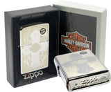 Zippo 28982 Harley Davidson Lasered Cross High Polish Chrome Windproof Lighter