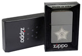 Zippo 28360 Black Ice Lighter + LPTBK Black Leather Pouch Clip