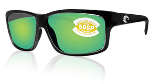 Costa Del Mar Cut Squall Frame Green Mirror 580P Plastic Polarized Lens