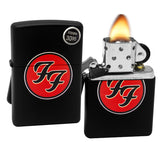 Zippo 29477 Foo Fighters Logo Red Black Matte Finish Windproof Pocket Lighter