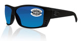 Costa Del Mar Cat Cay Blackout Frame Blue Mirror 580G Glass Polarized Lens
