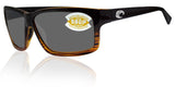 Costa Del Mar Cut Coconut Frame Gray 580P Plastic Polarized Lens