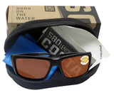 Costa De Mar Fantail Matte Black frame Copper 580 plastic lens New