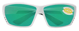 Costa Del Mar Tuna Alley White Frame Green Mirror 580P Plastic Polarized Lens