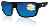 Costa Del Mar Bloke Black Gray Frame Blue Mirror 580P Plastic Polarized Lens