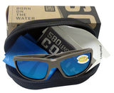 Costa Del Mar Fantail Moss Frame Blue Mirror 580 Plastic Polarized Lens
