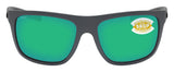 Costa Del Mar Broadbill Matte Gray Green Mirror 580 Plastic Polarized Lens