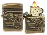 Zippo Lighter 29898 Harley Davidson 2019 Collectible Antique Brass Lighter New