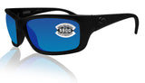 Costa Del Mar Jose Blackout Frame Blue Mirror 580G Glass Polarized Lens