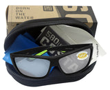 Costa Del Mar Cat Cay Black Green Frame Gray Silver Mirror 580 Plastic Lens