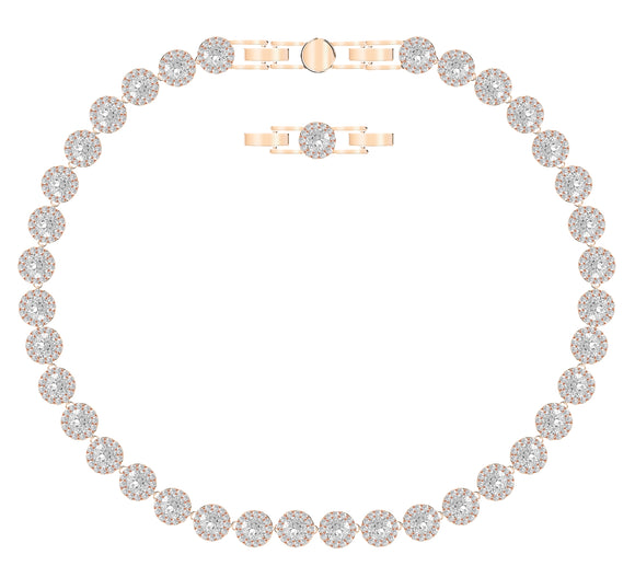 Swarovski angelic necklace white rose-gold tone plated 5367845