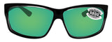 Costa Del Mar Cut Squall Frame Green Mirror 580G Glass Polarized Lens