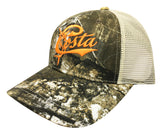 Costa Del Mar Retro Trucker Hat Camo Stone Adjustable Snap Back Closure Cap New