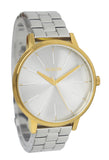 Nixon A0992062 Kensington Gold Silver Stainless Steel Bracelet Women Watch NEW