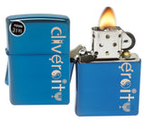 Zippo 29549 Sayings Diversity High Polish Blue Sapphire Finish Windproof Lighter