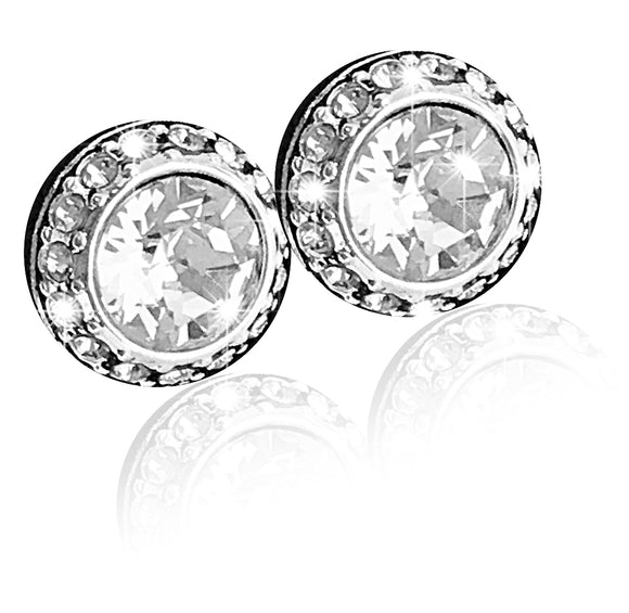 Swarovski angelic pierced earrings white rhodium plated 1081942
