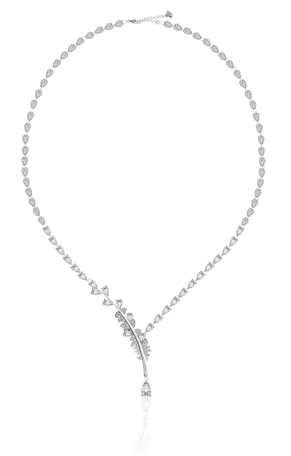 Swarovski nice necklace white rhodium plated NIB 5493401