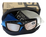 Costa Del Mar Blackfin Black Copper Silver Mirror 580G Glass Polarized Lens