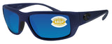 Costa Del Mar Fantail Midnight Frame Blue Mirror 580P Plastic Polarized Lens
