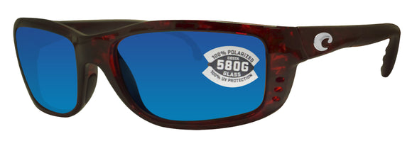 Costa Del Mar Zane Tortoise Frame Blue Mirror 580G Glass Polarized Lens