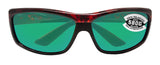 Costa Del Mar Saltbreak Tortoise Frame Green Mirror 580G Glass Polarized Lens